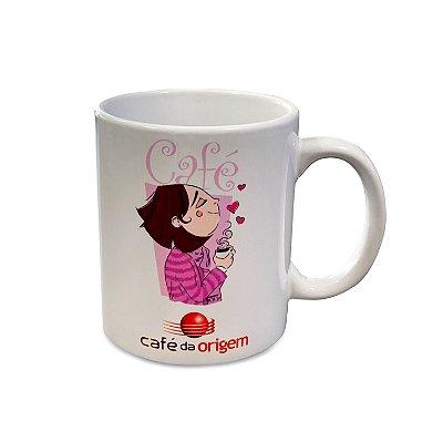 Caneca Café da Origem - Modelo Garota