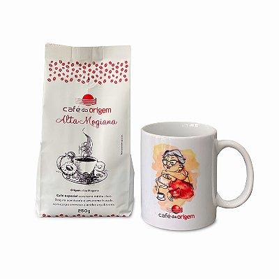 Kit Café da Origem Especial Alta Mogiana 250g + 1 caneca vovó