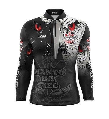 Camisa de Pesca Proteção Solar FPU 50+ Marca Pqs Fishing - Futebol -  Gavião - Modelo 02 - Manto da Fiel