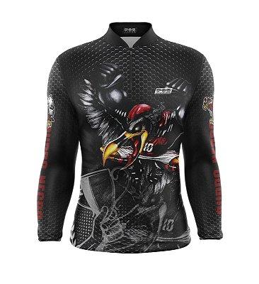 Camisa de Pesca Proteção Solar FPU 50+ Marca Pqs Fishing - Futebol - Mengo Campeão - Modelo 01