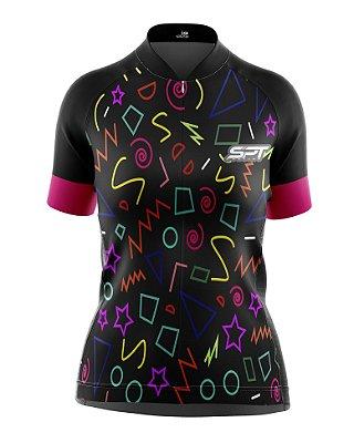 Camisa de Ciclismo Manga Curta Feminina Proteção Solar FPU 50+ Marca SPT - 04
