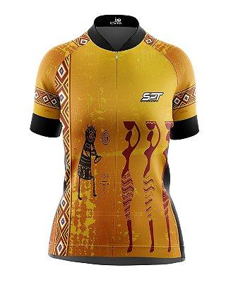 Camisa de Ciclismo Manga Curta Feminina Proteção Solar FPU 50+ Marca SPT - 08
