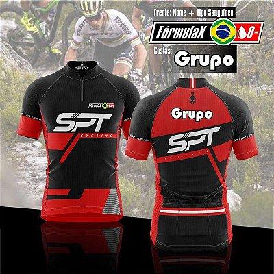Kit Camisa de Ciclismo Manga Curta Personalizada Grupo (10 peças)