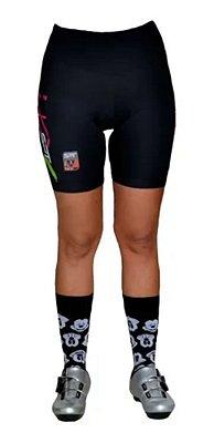 Bermuda Ciclismo Ciclista Short  Forro Gel Feminina Ref 03