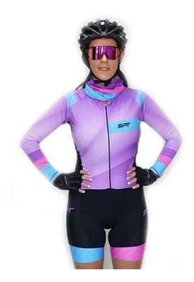 Macaquinho De Ciclismo Feminino Spt Ref 11 M/ L Forro Em Gel
