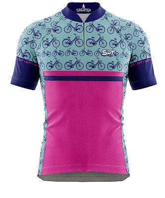 Camisa de Ciclismo Manga Curta Proteção Solar FPU 50+ Marca Spartan Coleção New Ref. 06