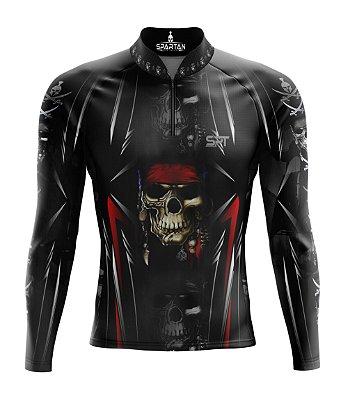 Camisa de Ciclismo Manga Longa Proteção Solar FPU 50+ Marca Spartan Coleção New Ref. 01