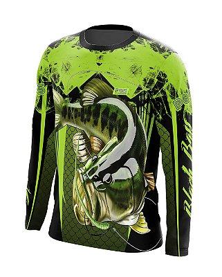 Camisa de Pesca Gola Redonda Ref. 02 Estampa Black Bass