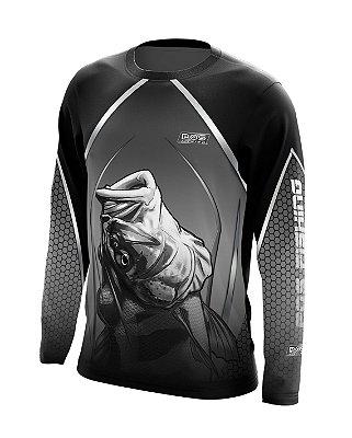 Camisa de Pesca Gola Redonda Ref. 07 Estampa Tucunaré