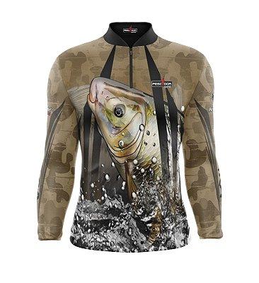 Camisa de Pesca Manga Longa Proteção Solar FPU 50+ Marca Pescador Fishing Coleção 2019/2020 Ref. 11