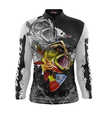 Camisa de Pesca Manga Longa Proteção Solar FPU 50+ Marca Pescador Fishing Coleção 2020/2021 Ref. 04