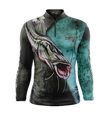Camisa de Pesca Manga Longa Proteção Solar FPU 50+ Marca Pescador Fishing Coleção 2020/2021 Ref. 05