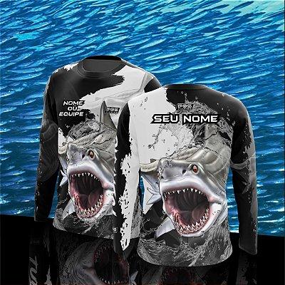 Camisa de Pesca Gola Redonda Personalizada