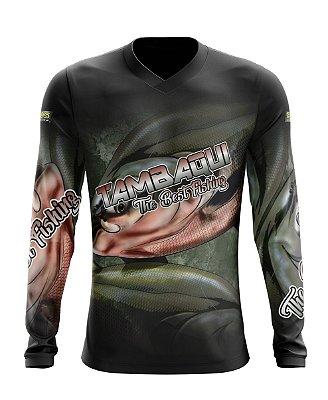 Camisa de Pesca Gola V Ref. 05 Estampa Tambaqui