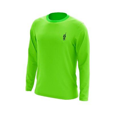 Camisa Segunda Pele Manga Longa Proteção Solar FPU 50+ Marca Pescador – Verde Limão