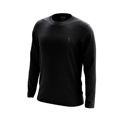 Camisa Segunda Pele Manga Longa Proteção Solar FPU 50+ Marca Pescador – Preto