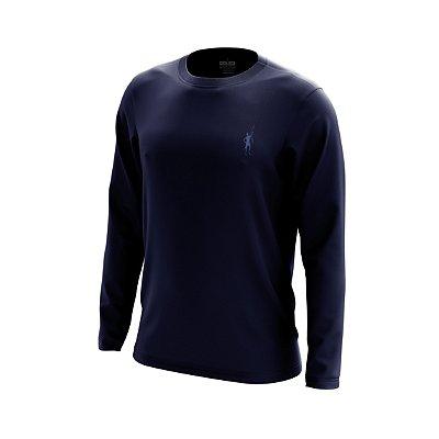 Camisa Segunda Pele Manga Longa Proteção Solar FPU 50+ Marca Pescador – Azul Marinho