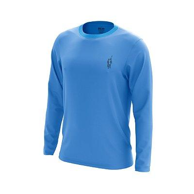 Camisa Segunda Pele Manga Longa Proteção Solar FPU 50+ Marca Pescador – Azul Celeste