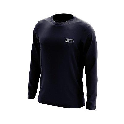 Camisa Segunda Pele Manga Longa Proteção Solar FPU 50+ Marca Spartan – Azul Marinho