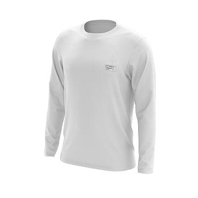 Camisa Segunda Pele Manga Longa Proteção Solar FPU 50+ Marca Spartan – Branco