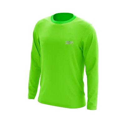 Camisa Segunda Pele Manga Longa Proteção Solar FPU 50+ Marca Spartan – Verde Limão