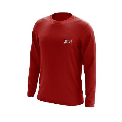 Camisa Segunda Pele Manga Longa Proteção Solar FPU 50+ Marca Spartan – Vermelho