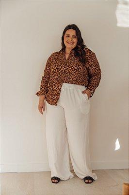 Calça Pantalona Off-White Nina