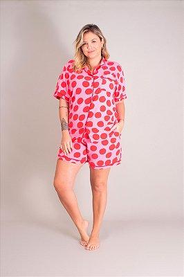 Pijama Curto Poá Nice