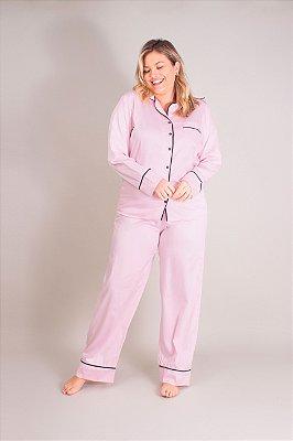 Pijama Longo Rosa Hilda