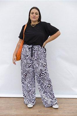 Calça Pantalona Zebra Nina