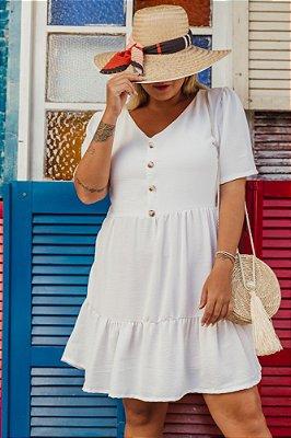 Vestido Curto Branco Maya