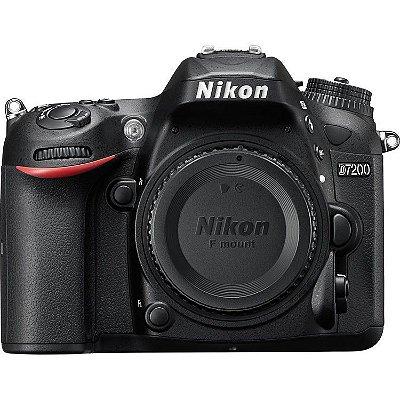 Câmera Nikon D7200 Corpo, 24.2mp, Lcd 3.2'', Full Hd