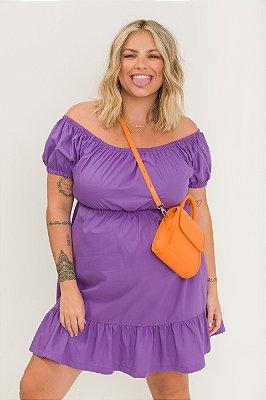 Vestido Ciganinha Curto Violeta