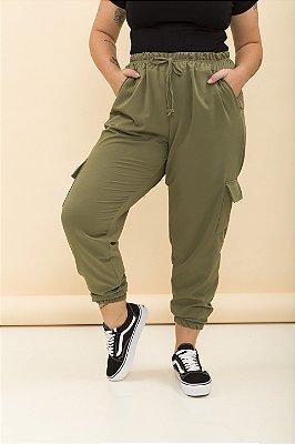 Calça Jogging Twill Verde Militar