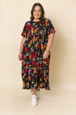 Vestido Yumi Midi Borboletas