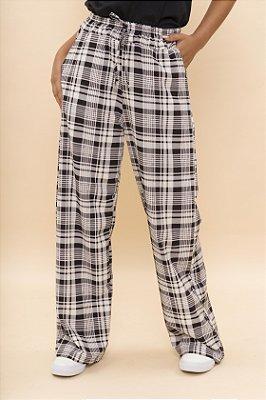 Calça Pantalona New Xadrez