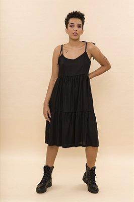 Vestido Curto Alças Preto