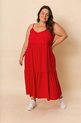 Vestido Ramona Alças Maxi Vermelho
