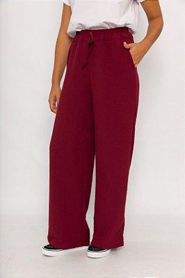 Calça Pantalona Bordô