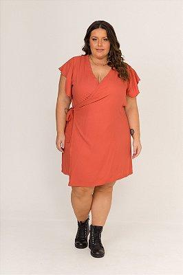 Vestido Rubia Envelope Salmão