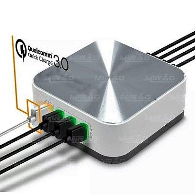 CARREGADOR AUTO-ID 3.0 A- 1 USB QUICK CHARGER + 7 USB 10 A - A1011