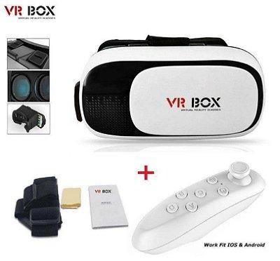 OCULOS VR BOX REALIDADE VIRTUAL 3D + CONTROLE BLUETOOTH - MEGA INFOTECH