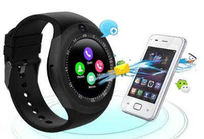 45f38cc1fda RELOGIO INTELIGENTE SMARTWATCH Y1S ANDROID IOS BLUETOOTH CHIP   CARTÃO    CAMERA