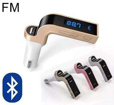 CARG7 - TRANSMISOR FM VEICULAR MP3 USB SD - BLUETOOTH