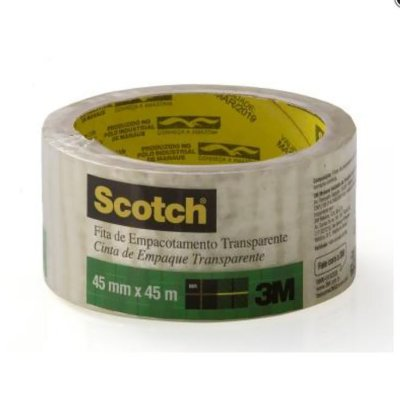 FITA ADESIVA TRANSPARENTE 45MMX45MM SCOTCH 3M