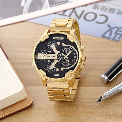 Relógio Dourado Cargany Metal