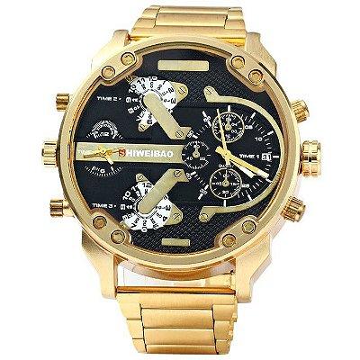 Relógio Dourado Luxo