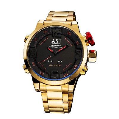 Relógio Dourado Asj
