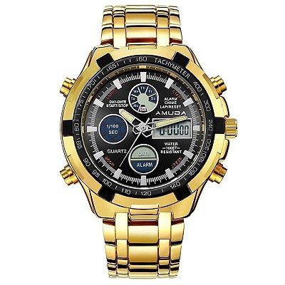 Relógio Dourado Amuda