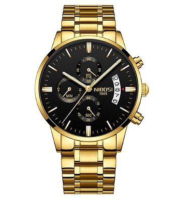 Relógio Dourado Nibossi